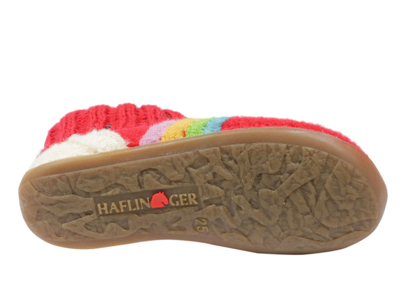 Haflinger Children's slippers Everest Cloud Red