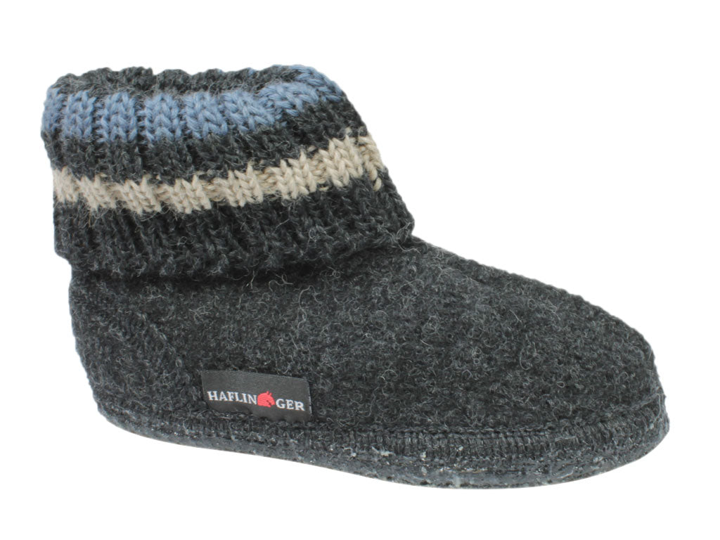 Haflinger Children's slippers Paul Graphite