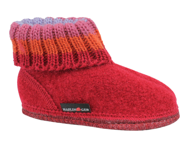 Haflinger Children's slippers Paul Red