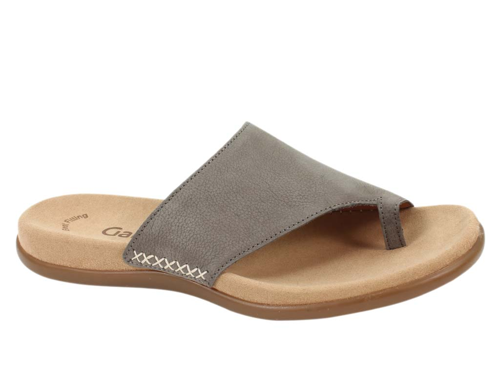 Gabor Sandals Lanzarote 03.700 Fumo Grey side view