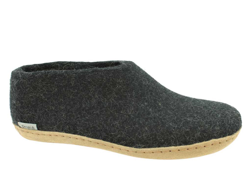 Glerups Slippers closed heel Charcoal