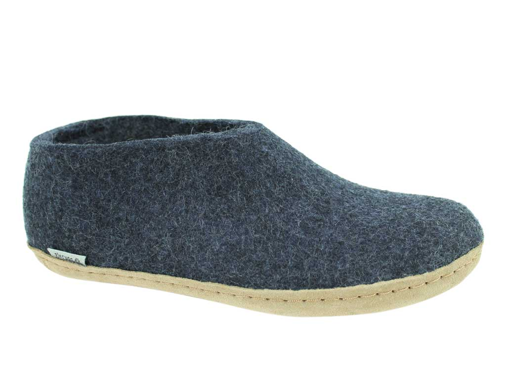 Glerups Slippers closed heel Denim