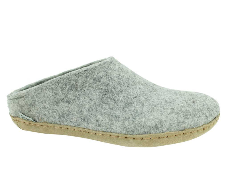 Glerups Slippers open heel Grey