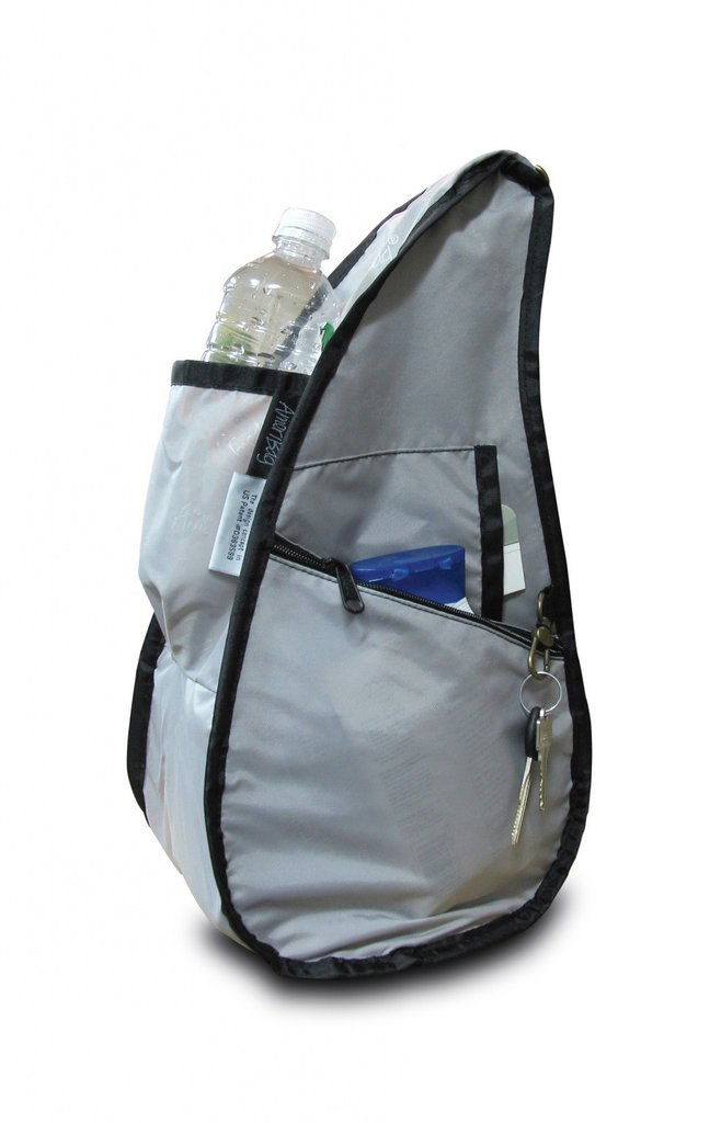 Healthy Back Bag Textured Nylon - Night Blue Small inside view