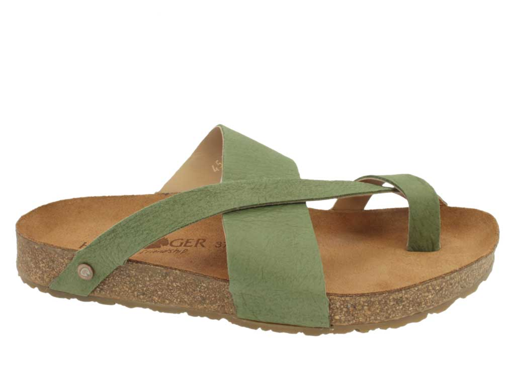 Haflinger Men Sandals Jacks Khaki