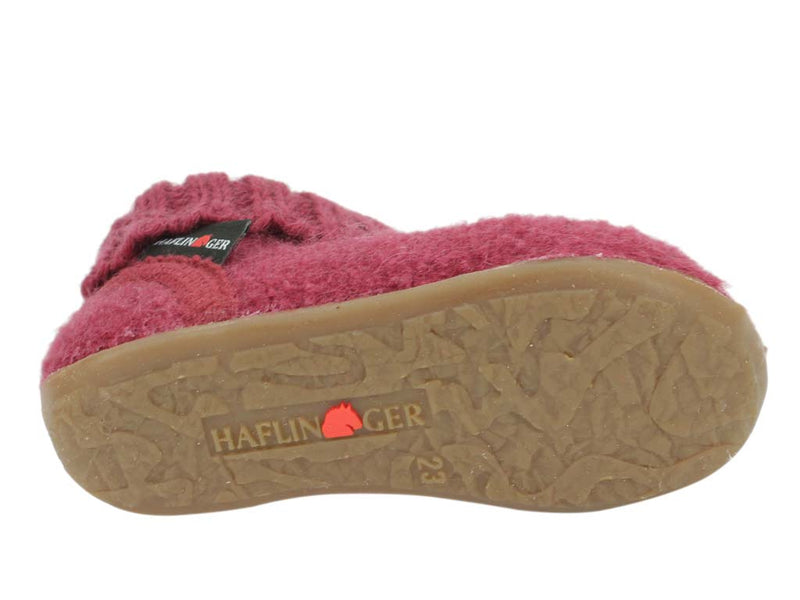 Haflinger Children's slippers Karlo Burgund