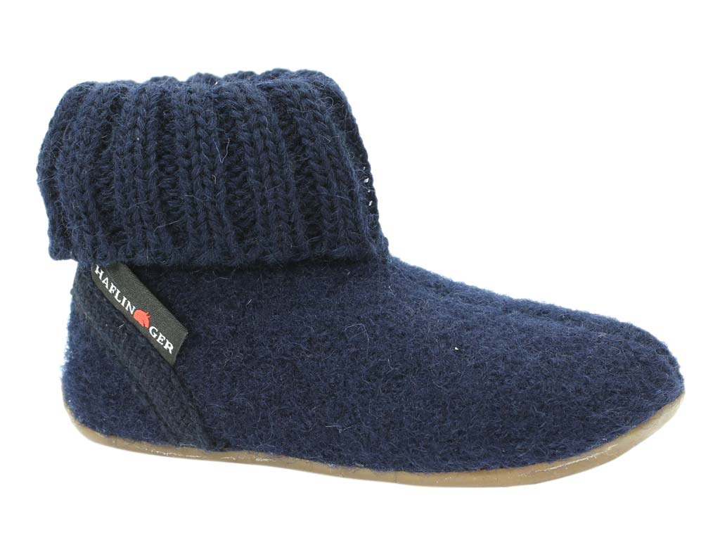 Haflinger Children's slippers Karlo Navy side view