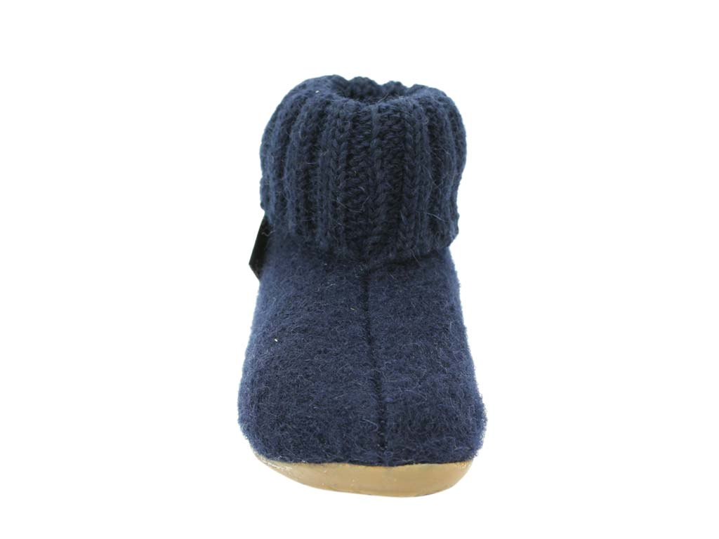 Haflinger Children's slippers Karlo Navy front view