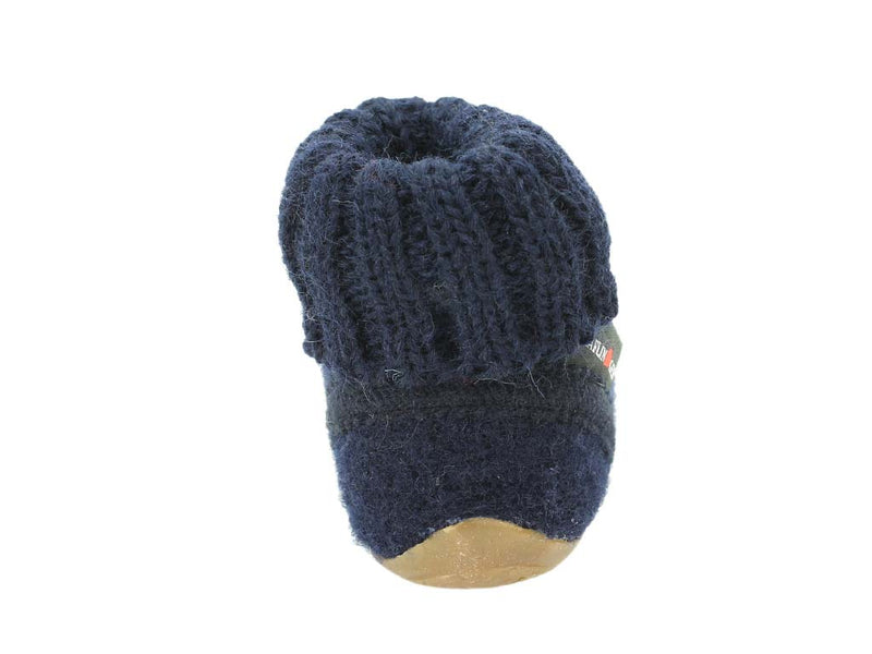 Haflinger Children's slippers Karlo Navy back view
