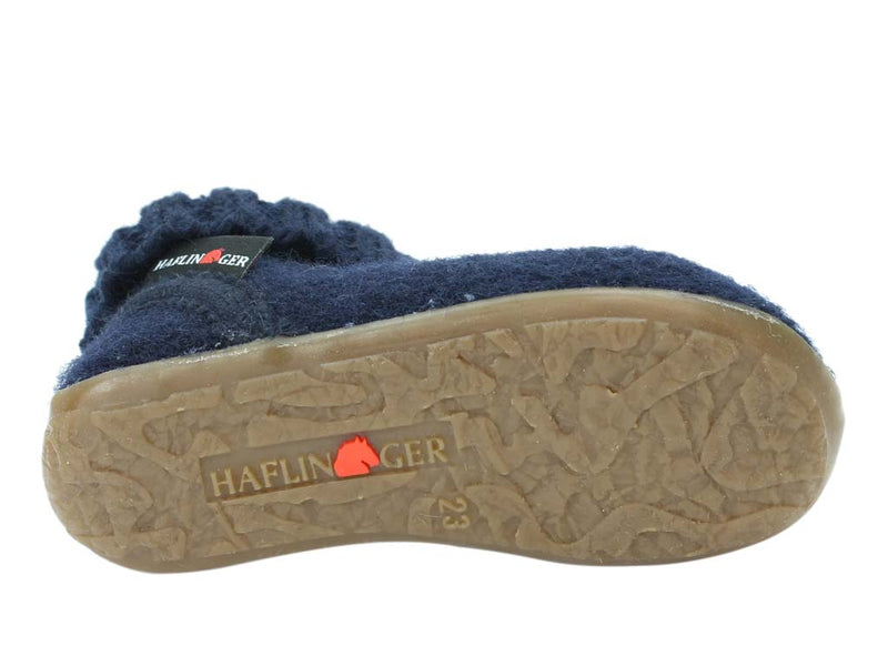 Haflinger Children's slippers Karlo Navy sole view