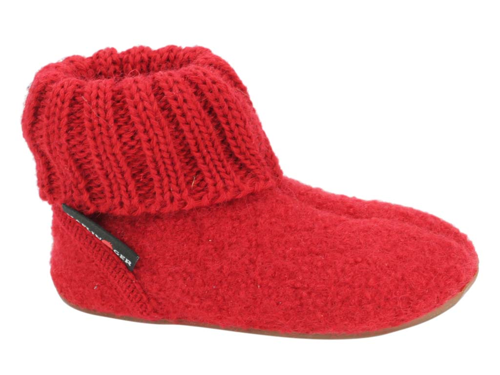 Haflinger Children's slippers Karlo Red side view