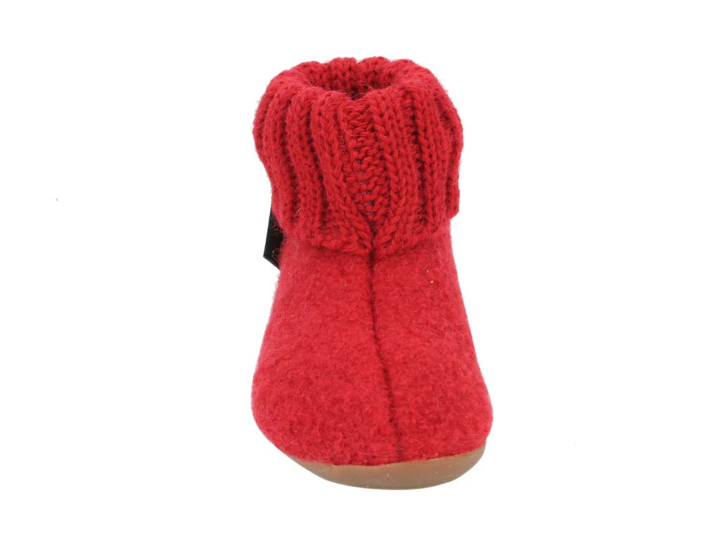 Haflinger Children's slippers Karlo Red front view
