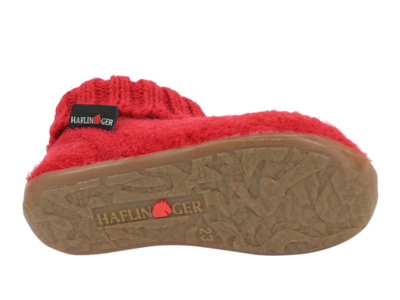 Haflinger Children's slippers Karlo Red sole view