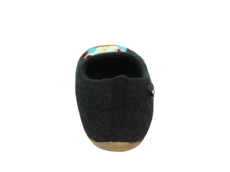 Haflinger Slippers Charlie Olivia insole back view