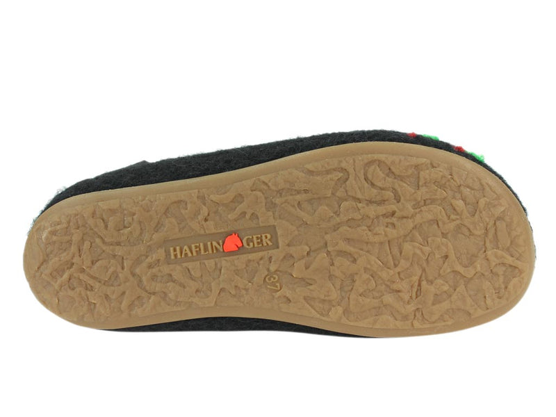 Haflinger Slippers Charlie Olivia insole sole view