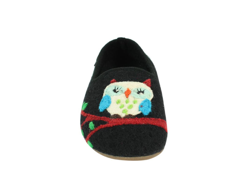Haflinger Slippers Charlie Olivia insole front view