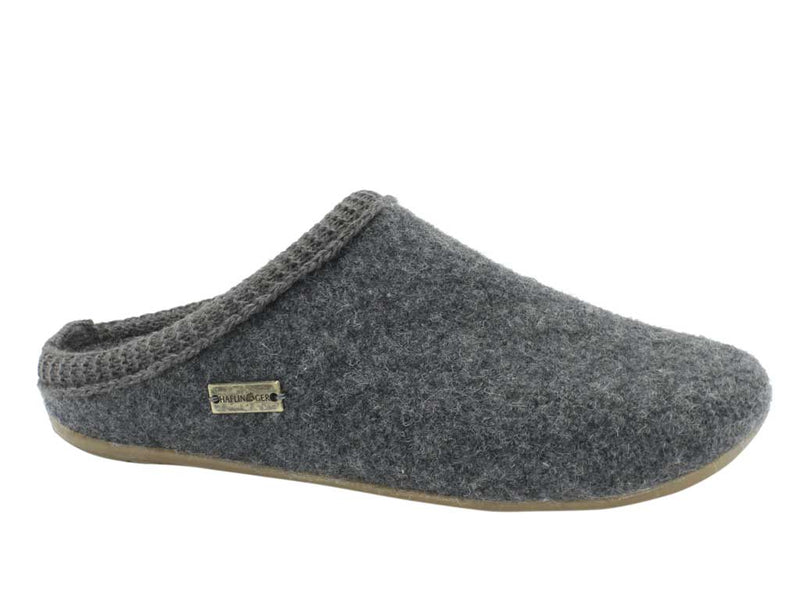 Haflinger Slippers Dakota Classic Anthracite side view
