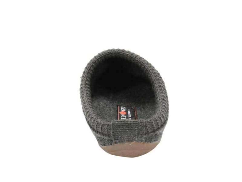 Haflinger Slippers Everest Classic Anthracite back view