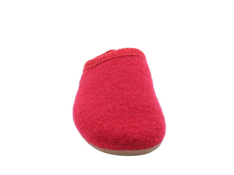 Haflinger Slippers Dakota Classic Red front view