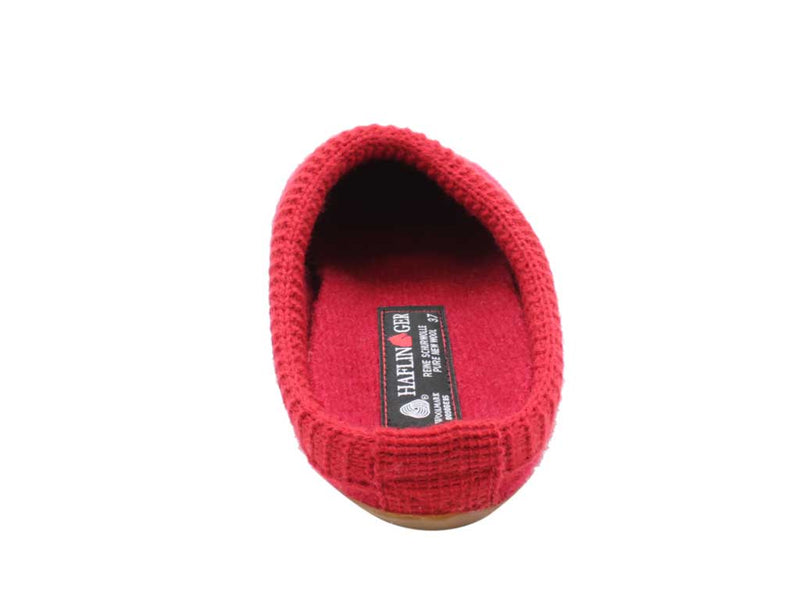 Haflinger Slippers Dakota Classic Red back view