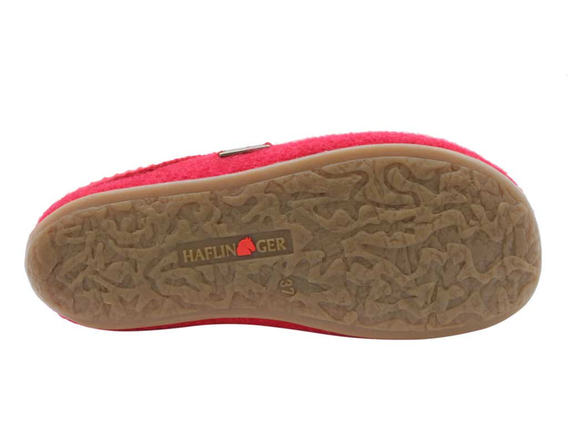 Haflinger Slippers Dakota Classic Red sole view
