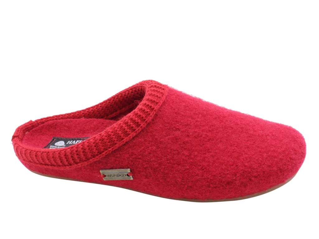 Haflinger Slippers Dakota Classic Red side view