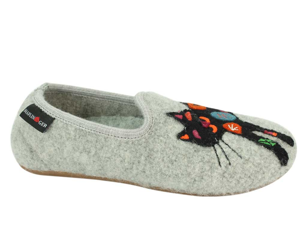 Haflinger Slippers Charlie Cat side view