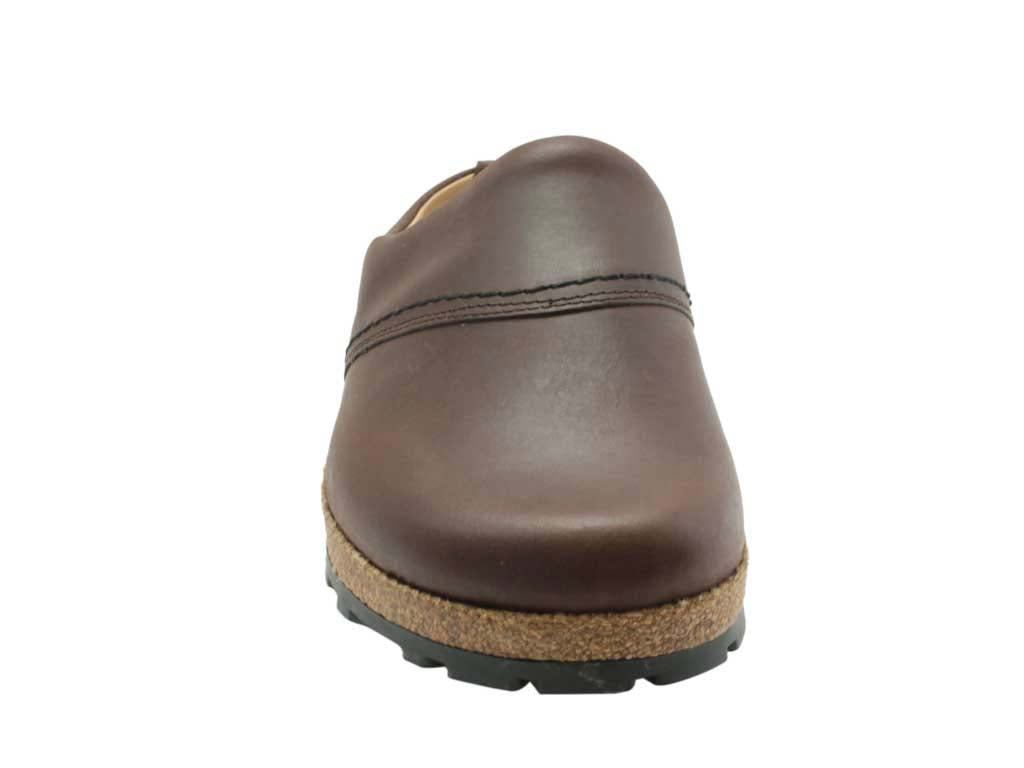 Haflinger Leather Clogs Esbjerg Brown
