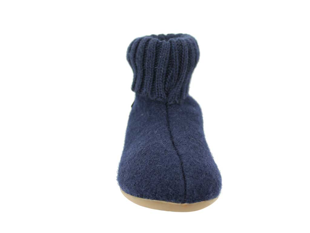 Haflinger Slippers Everest Karlo Navy Blue