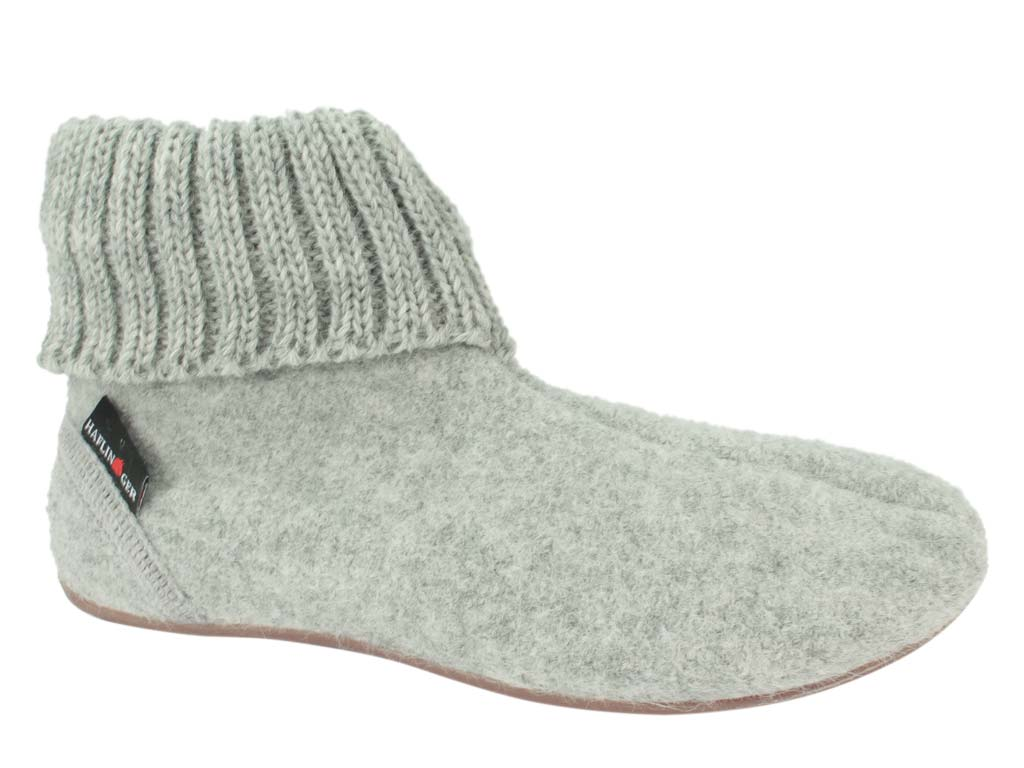 Haflinger Everest Karlo slippers Light Grey side view