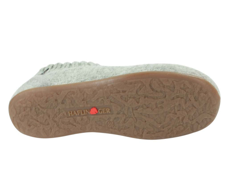 Haflinger Everest Karlo slippers Light Grey sole view