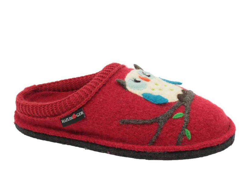 Haflinger Slippers Flair Olivia Red side view