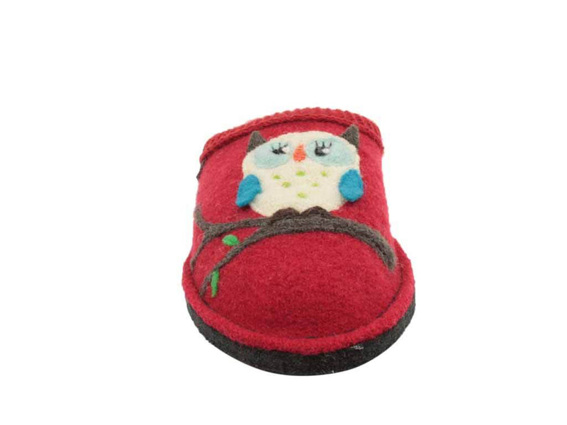 Haflinger Slippers Flair Olivia Red front view