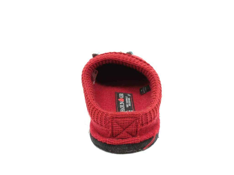 Haflinger Slippers Flair Olivia Red back view