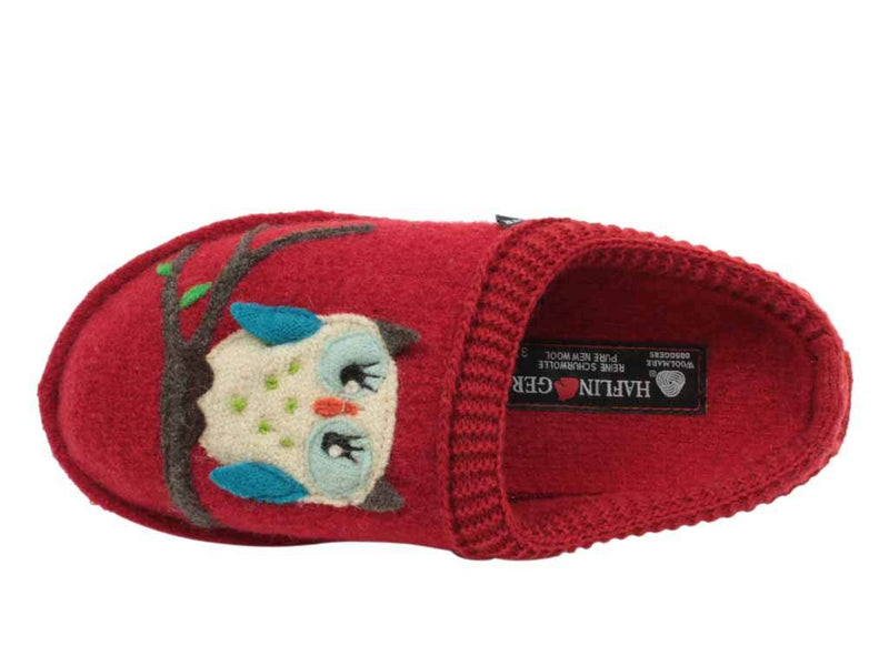 Haflinger Slippers Flair Olivia Red top view