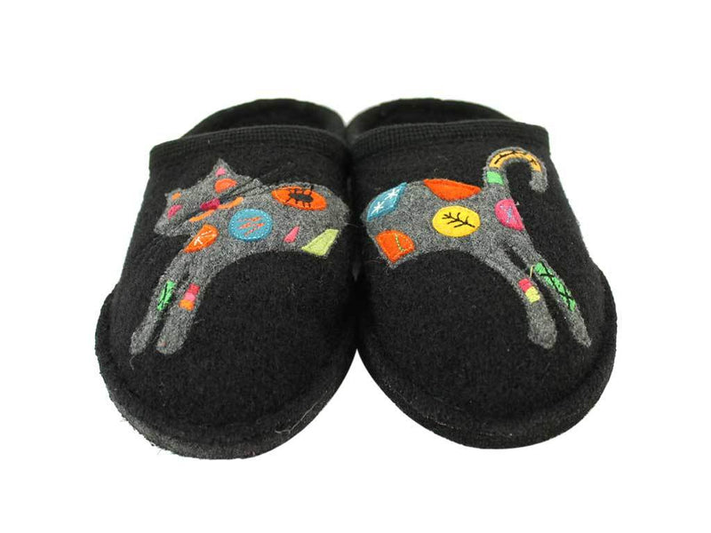 Haflinger Flair slippers Sassy Cat Black