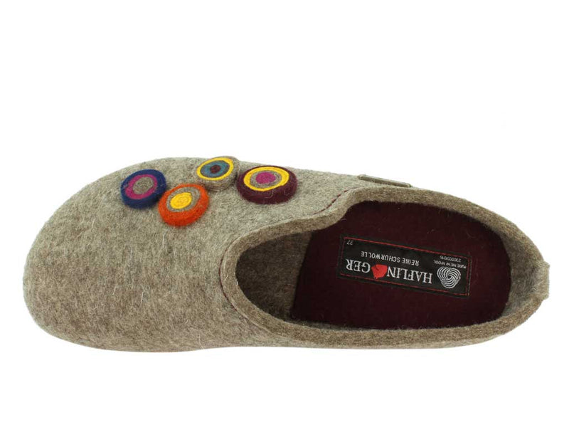 Haflinger Clogs Grizzly Kanon Torf