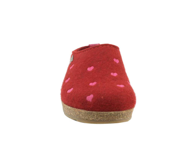 Haflinger Clogs Grizzly Sweetheart Paprika