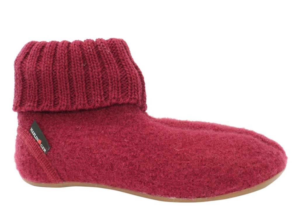 Haflinger Slippers Everest Karlo Burgundy