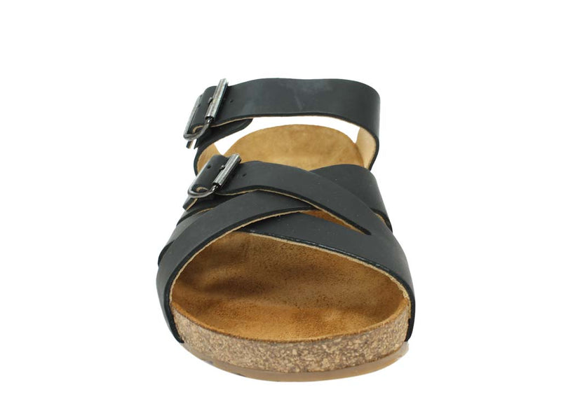 Haflinger Sandals Charles Black front view