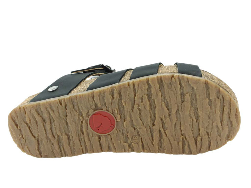 Haflinger Sandals Charles Black sole view