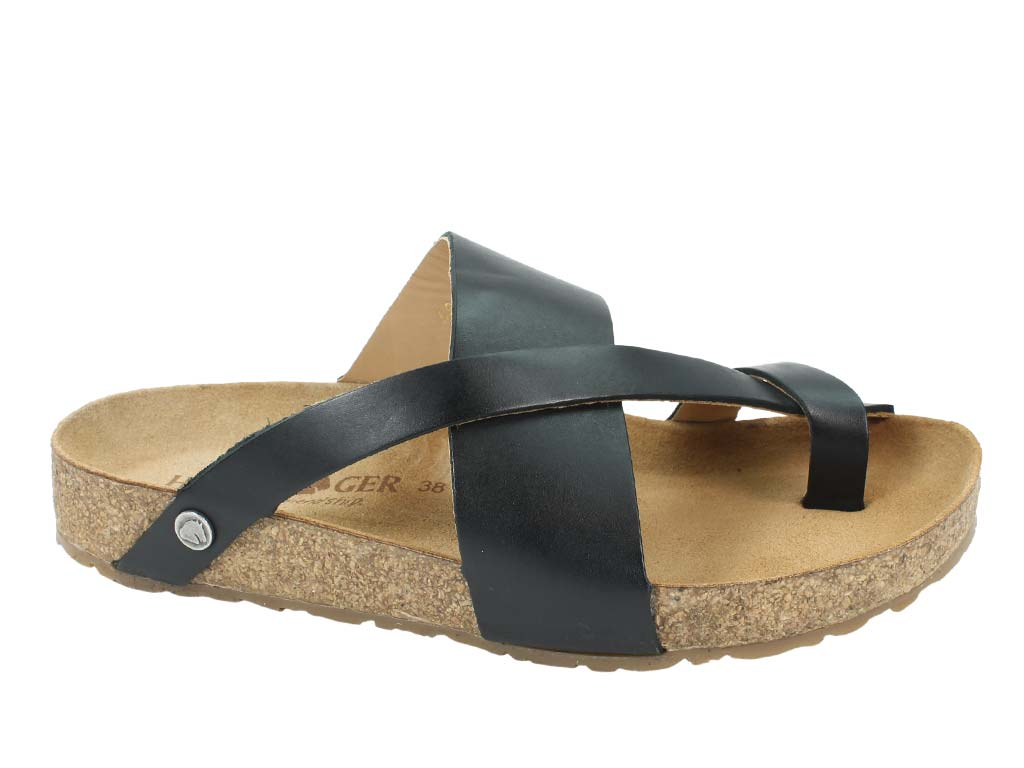 Haflinger Sandals Jack Black side view