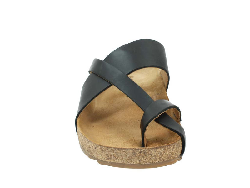 Haflinger Sandals Jack Black front view