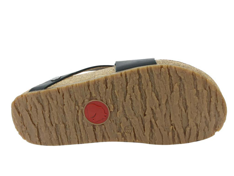 Haflinger Sandals Jack Black sole view