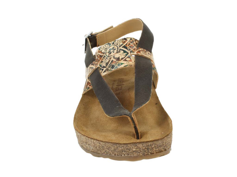 Haflinger Sandals Lina Brown front view