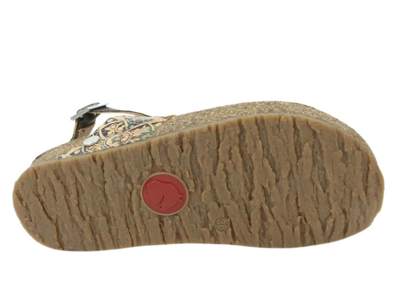 Haflinger Sandals Lina Brown sole view
