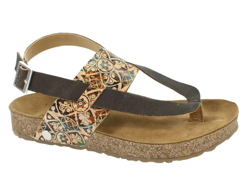 Haflinger Sandals Lina Brown side view