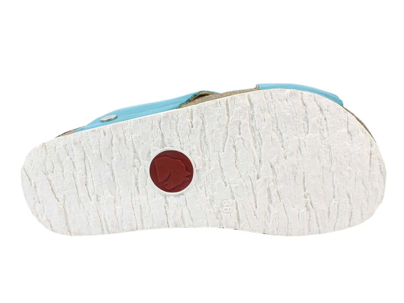 Haflinger Sandals Mio Turquoise sole view