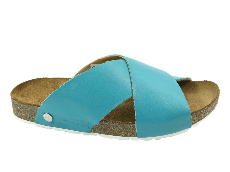 Haflinger Sandals Mio Turquoise side view