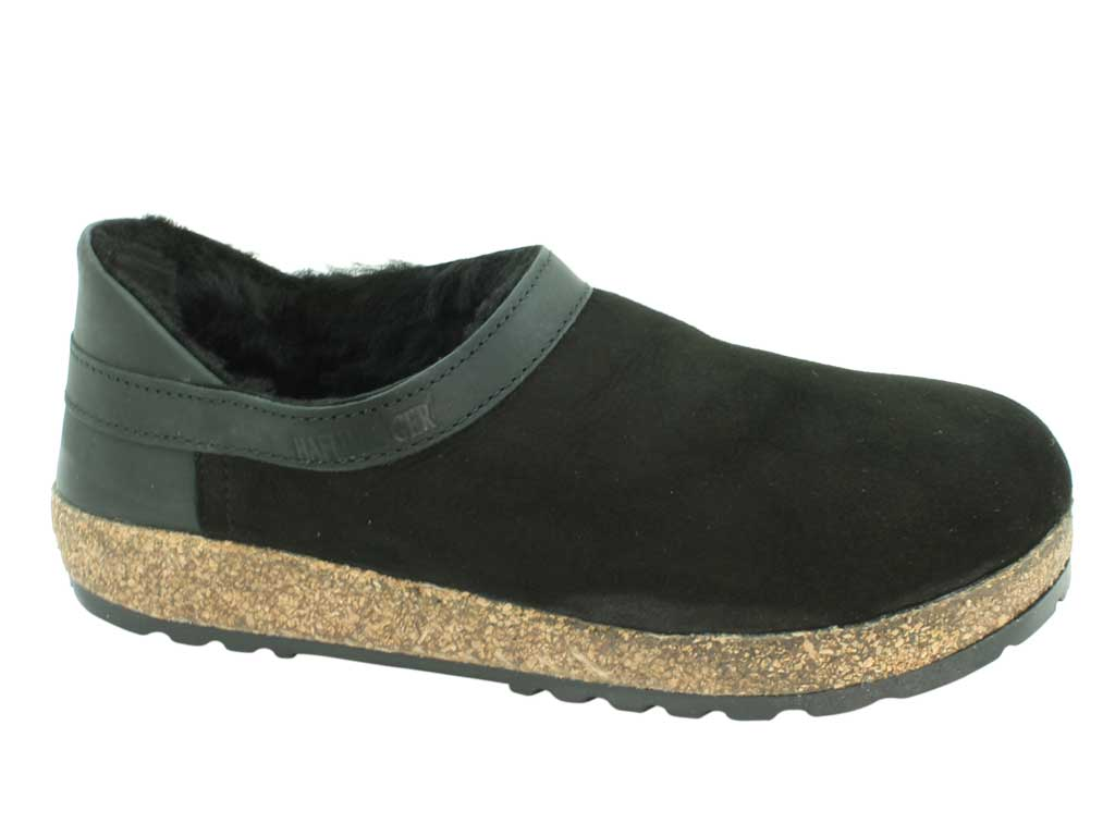 Haflinger Siberia Sheepskin clogs Black